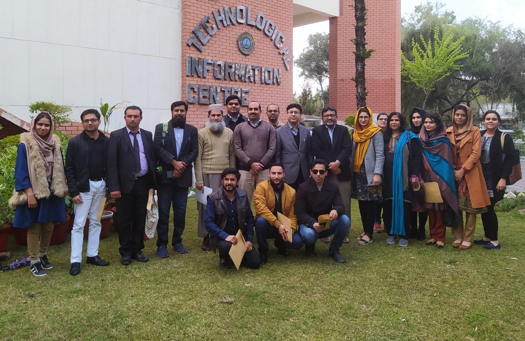 Group Photo of the participants of Training Workshop on 'Research Tools and Techniques through SPSS' with D.G PASTIC, organized by PASTIC National Centre, Islamabad from 11-12 March, 2020 at I.T Lab of PASTIC National Centre, Islamabad.