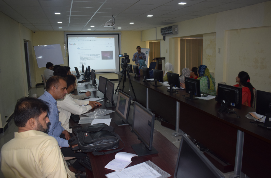 Participants during lecture of Muhammad Nadeem  on 'Open Source in Libraries' at PASTIC National Centre, Islamabad. (27<sup>th</sup>, July 2018)
