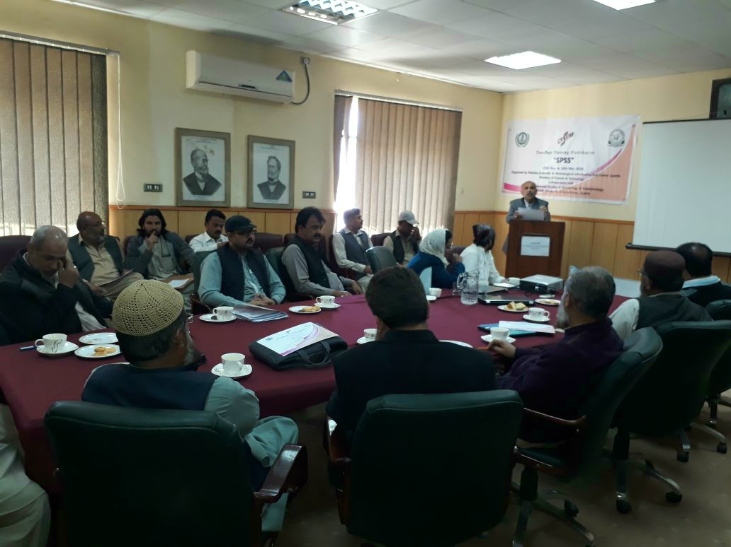 Special Guest Mr. Azam Kakar, Dean (Life Sciences), University of Balochistan expressing his views about PASTIC Services