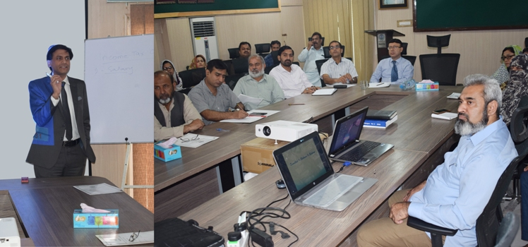 Participants during the lecture on E-filling of Income Tax Returns at PASTIC National Centre, Islamabad
