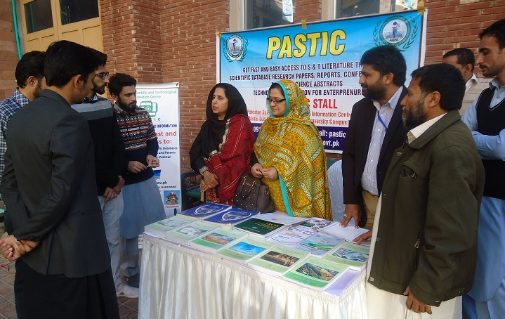 PNC Islamabad team along with students at PASTIC Stall during 5th KP Innovation to invention summit