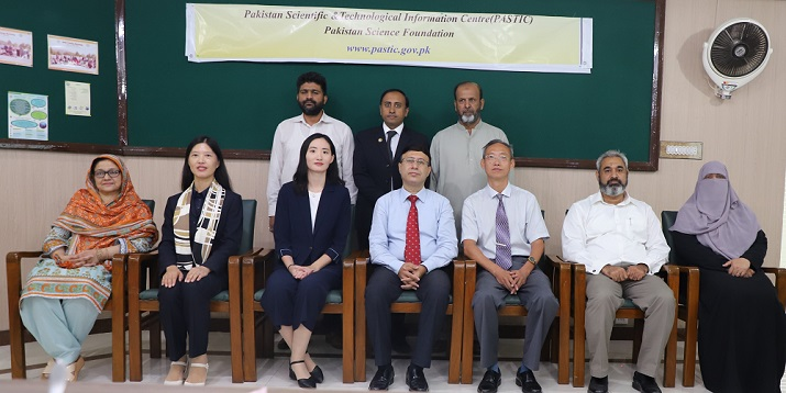 Group photo of Chinese delegation from Pakistan Study Centre, Beijing Technology & Business University (BTBU), People's Republic of China led by Prof. Di Yuna with PASTIC officials