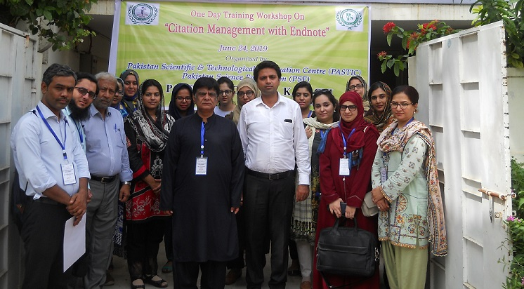 A Group Photo of the Participants during Workshop on Citation Management with Endnote at PASTIC Sub Centre Karachi on 24 June 2019