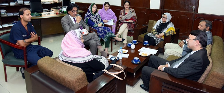 Meeting was held to share the services, before singing the MOU