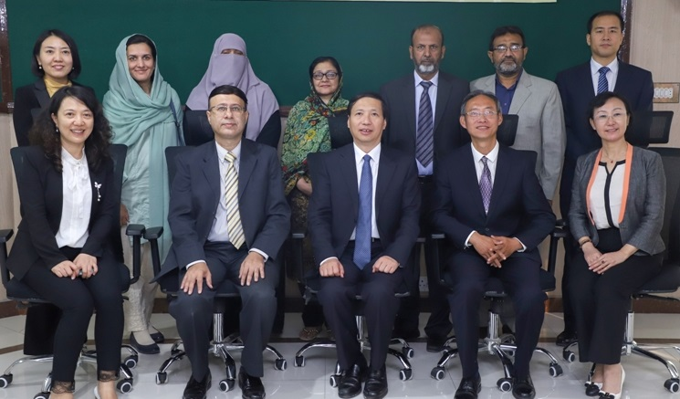 Group photo of Chinese delegation from Beijing Academy of Science and Technology (BJAST), People's Republic of China led by GuoGuangsheng, President/ Professor, Beijing Academy of Science and Technology (BJAST)
