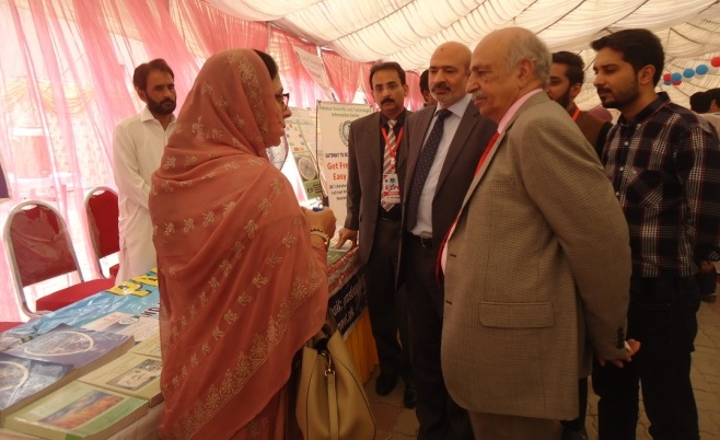 Pro. Dr. Saleem ur Rehman & Brig. (Retd) Javed Tipu visited PASTIC Stall during TechnoSUIT Expo 2019 held at Sarhad University of Information Technology (SUIT), Peshawar on Sept. 17, 2019.